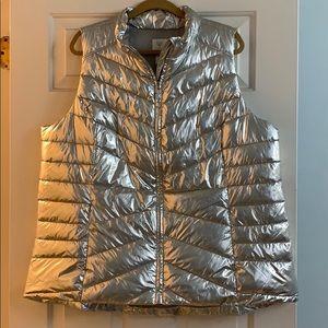 Metallic Silver Vest